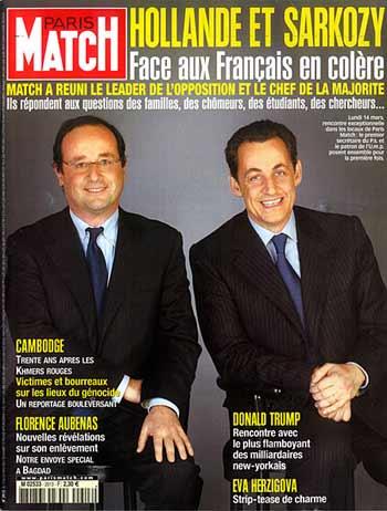 Nicolas Hollande et François Sarkozy