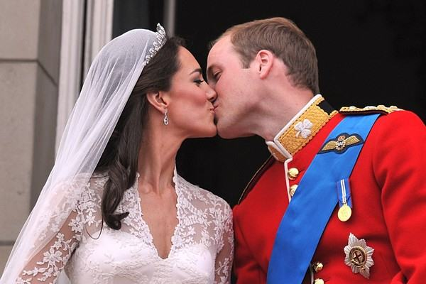 Prince William and his wife Kate Middlet