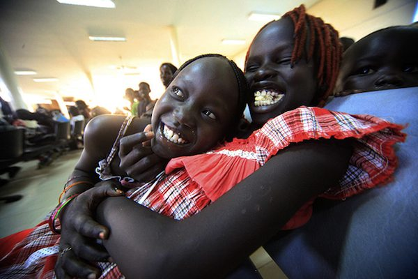 Khartoum, Sudan: South Sudanese waiting to be flown back to their country
